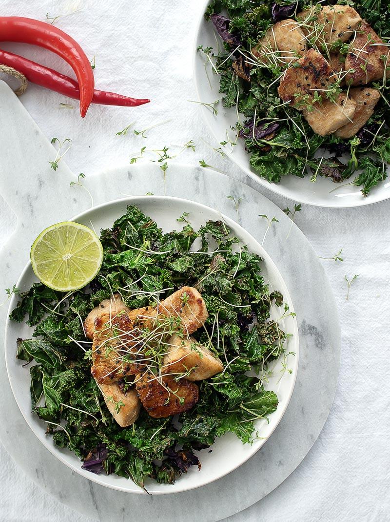 Grünkohlsalat mit Hühnchen - Rezept auf Lounge20.com