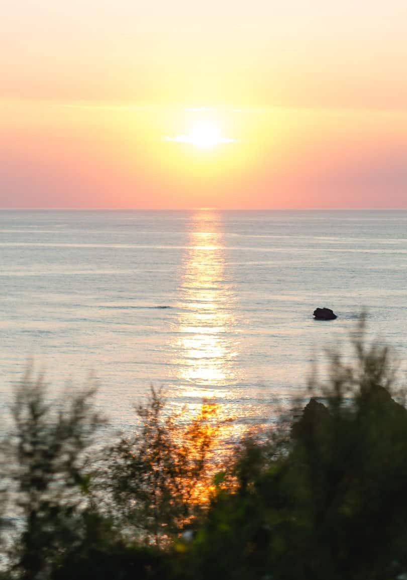 Sonnenuntergang in Biarritz, Frankreich