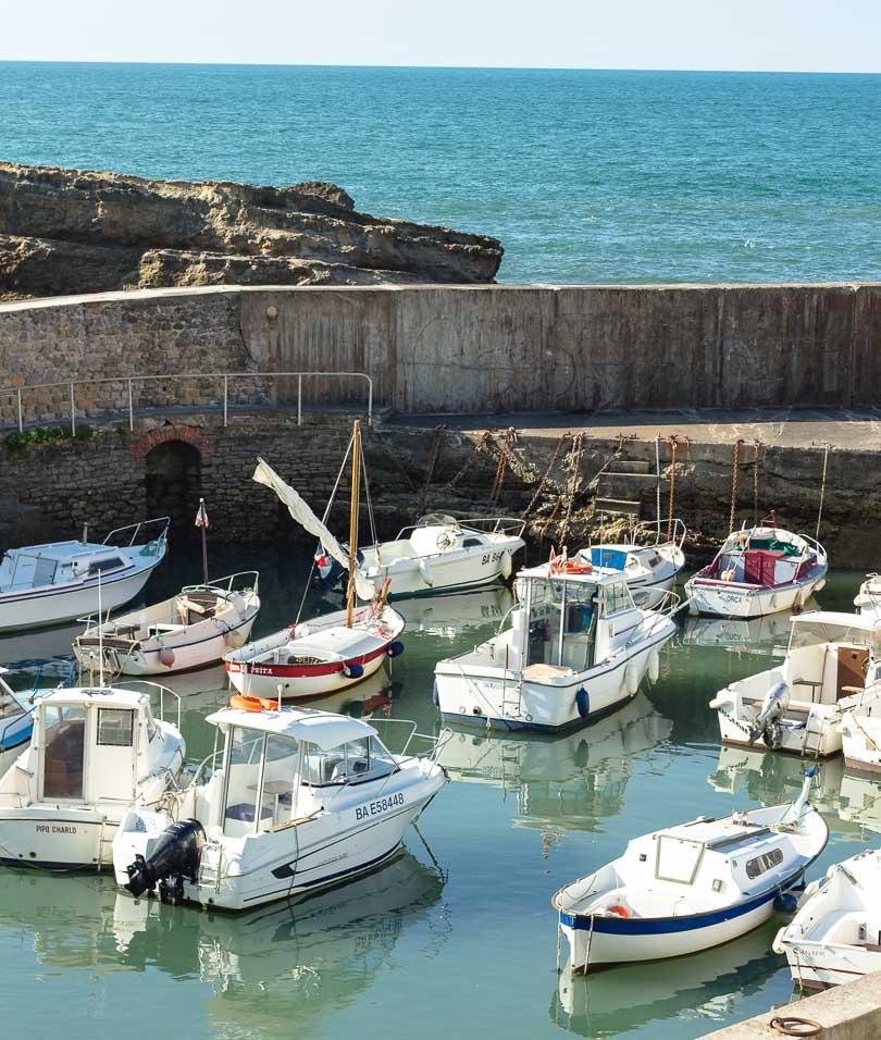 Hafen in Biarritz, Frankreich