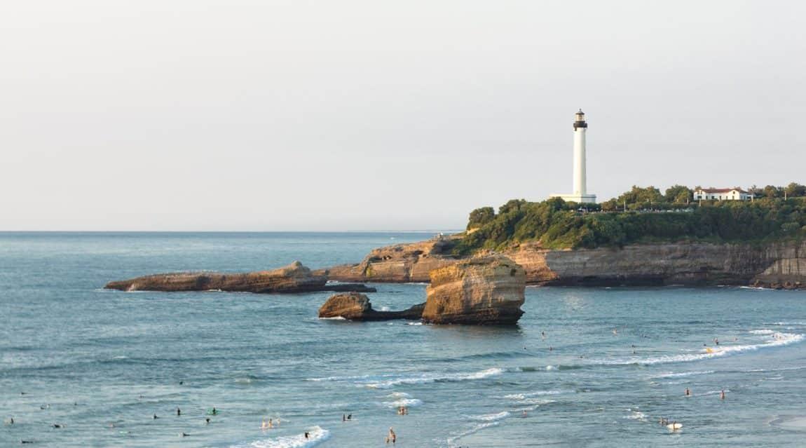 Panorama von Biarritz, Frankreich