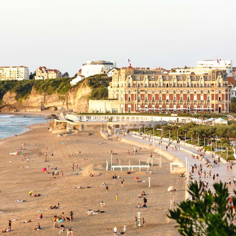 Strand von Biarritz, Frankreich