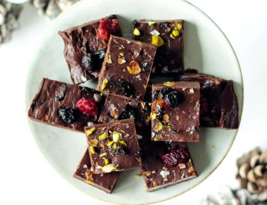 Selbstgemachte Schokoladen Fudge