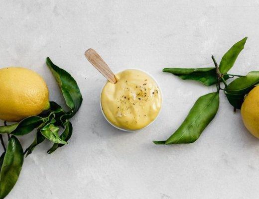 Selfmade mayonnaise with lemons