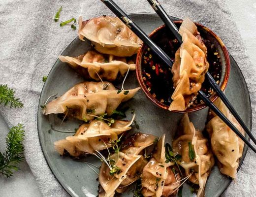 Asiatische Potstickers mit Soja-Honig-Chili Sauce Titelbild