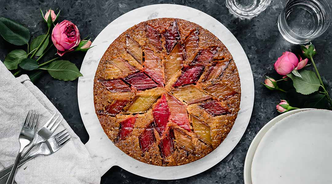 Upside Down Rhubarb Cake With Orange And Cardamom Lounge 20
